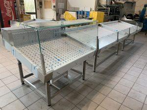 banco refrigerato pescheria reinox