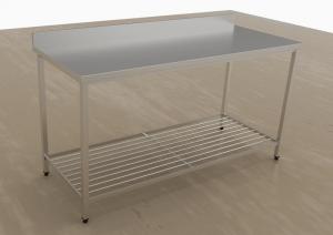 tavolo inox con alzatina